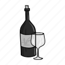 alcohol, beverage, bottle, drink, glass, grape, wine icon