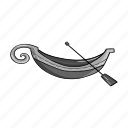 boat, delivery, gondola, old, paddle, transport, transportation icon