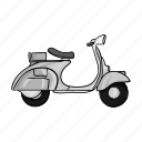 delivery, scooter, transport, transportation, travel, vehicle icon