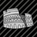 ancient, architecture, building, coliseum, construction, structure icon