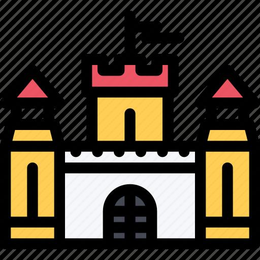 architecture, building, castle, city, real estate, realtor icon