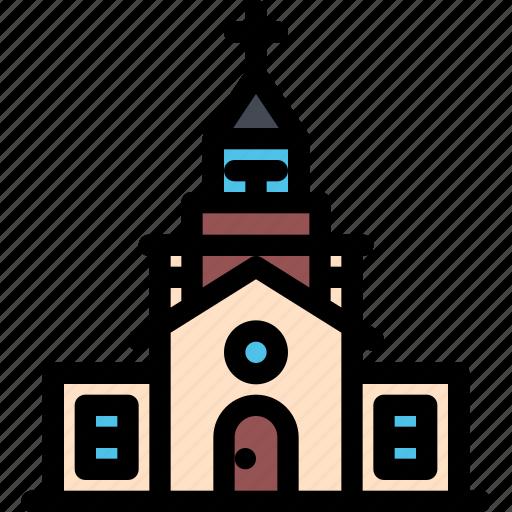 architecture, building, church, city, real estate, realtor icon