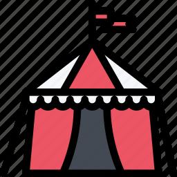 architecture, building, circus, city, real estate, realtor, tent icon