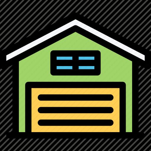 architecture, building, city, garage, real estate, realtor icon