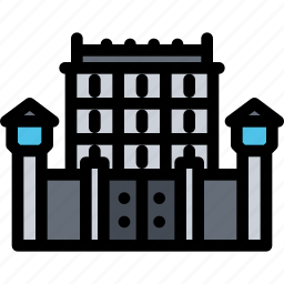 architecture, building, city, jail, real estate, realtor icon