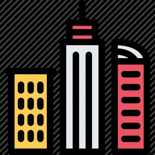 architecture, building, city, real estate, realtor, skyscrapers icon