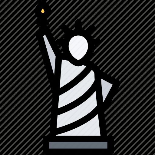 architecture, building, city, liberty, real estate, realtor, statue icon