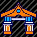 city, cityscape, gate, indonesia, jakarta, landmark, setu babakan icon