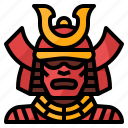 cultures, japan, samurai, traditional, warrior icon