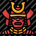 cultures, japan, samurai, traditional, warrior icon
