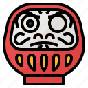 cultures, daruma, fortune, japan, japanese icon