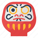 cultures, daruma, fortune, japan, japanese icon