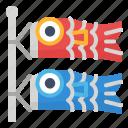 cultures, fish, flag, japan, koinobori icon