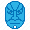 acting, dramatic, japan, kabuki, mask icon