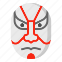 acting, dramatic, japan, kabuki, mask