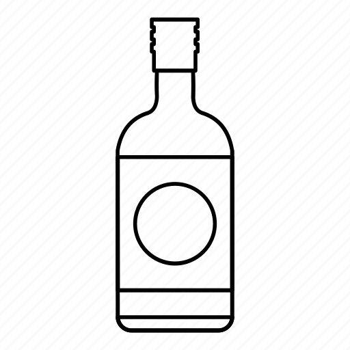 bottle, cup, japanese, line, outline, sake, traditional icon