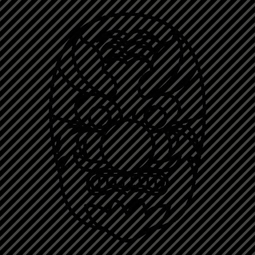 asian, china, hannya, japan, line, mask, outline icon