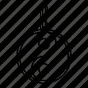 balance, line, outline, yan, yang, yin, ying icon