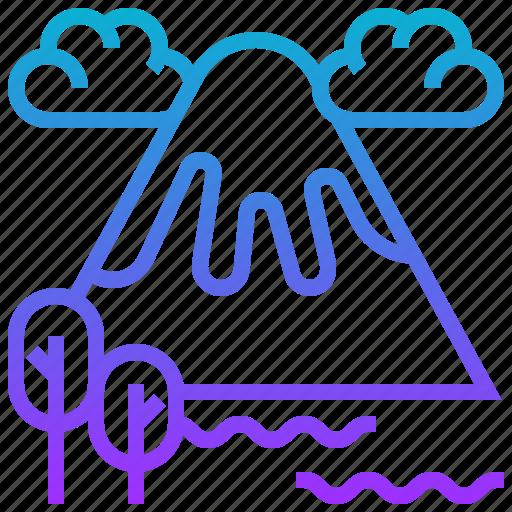 fuji, japan, mountain, volcano icon