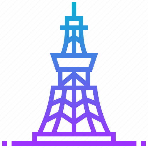 building, japan, landmark, tokyo, tower icon