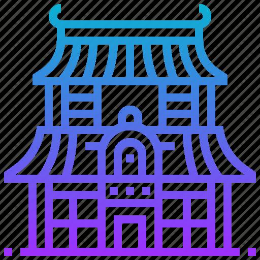 building, japan, landmark, temple, tori icon