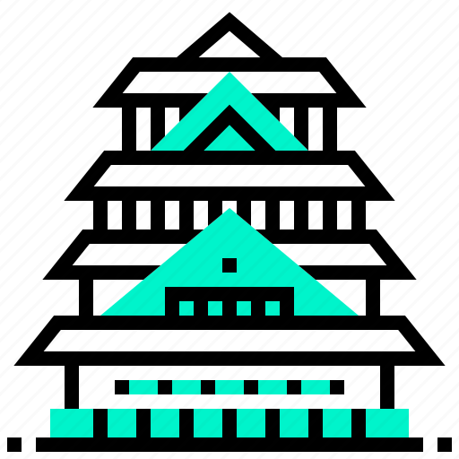 building, castle, japan, landmark, osaka icon
