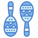 maraca, mexican, music, shaker icon