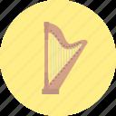 blues, classical, harp, intrumental, jazz, music, retro icon
