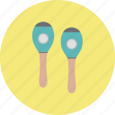 classical, intrumental, maracas, music, retro, song, sound icon