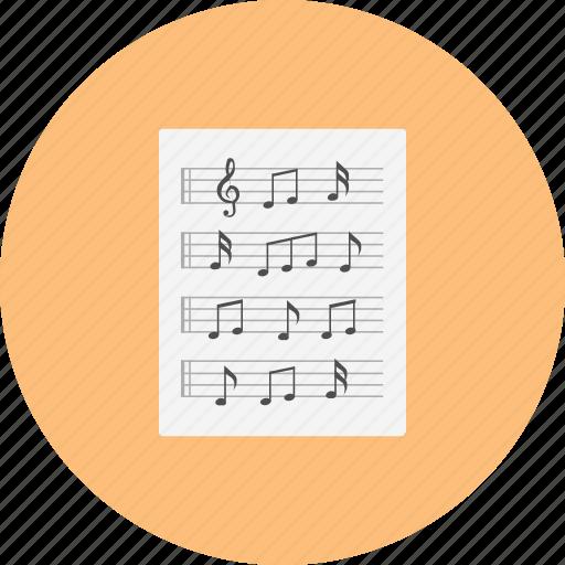 classical, intrumental, jazz, music, note, paper, retro icon