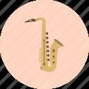 blues, classical, intrumental, jazz, music, retro, saxophone icon