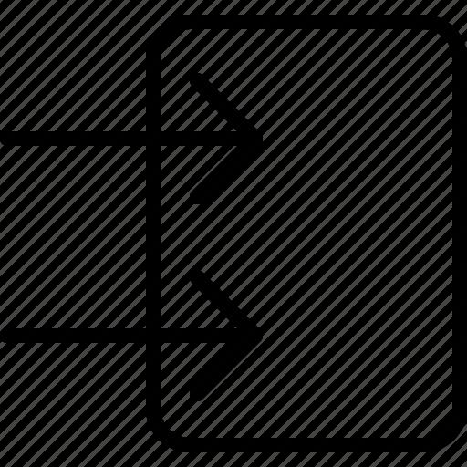 arrow, direction, left, move, object, orientation, push icon