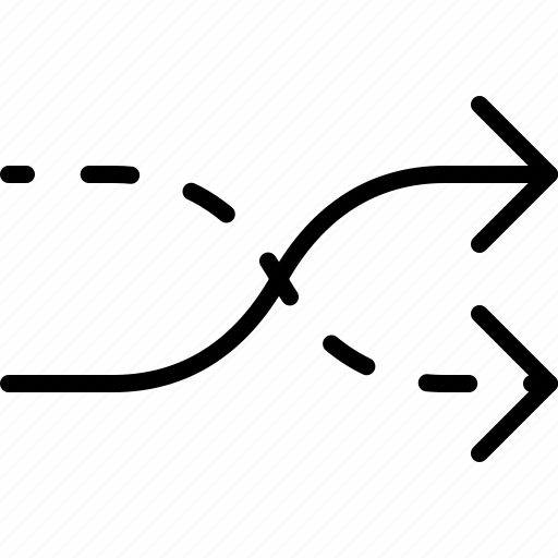 arrow, crossroads, direction, move, orientation, shuffle icon