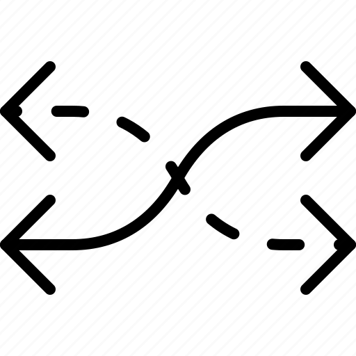 arrow, crossroads, direction, double, move, orientation, shuffle icon