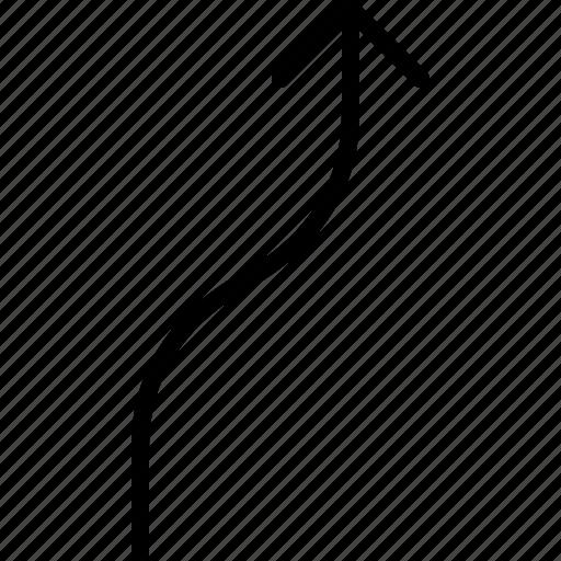 arrow, direction, move, orientation, road icon