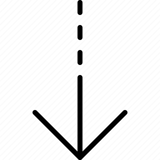 arrow, direction, down, indicator, move, orientation icon