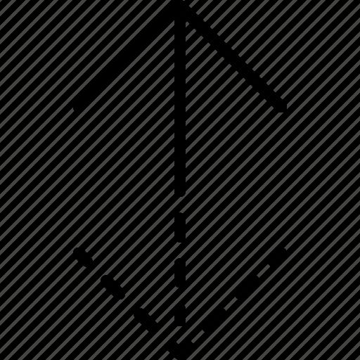 arrow, direction, indicator, move, orientation, vertical, ways icon