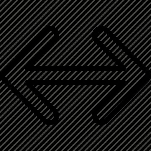 arrow, direction, horizontal, indicator, move, orientation, ways icon