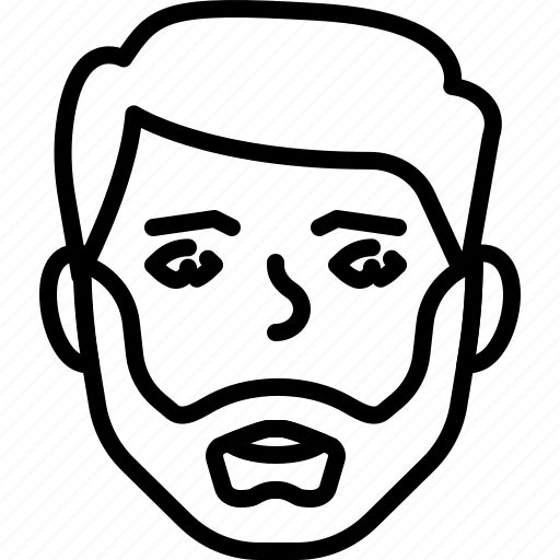avatar, bearded, face, people, person icon