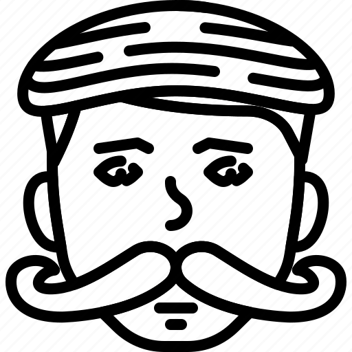 Avatar, beanie, face, hipster, moustache, people, person icon - Download on Iconfinder