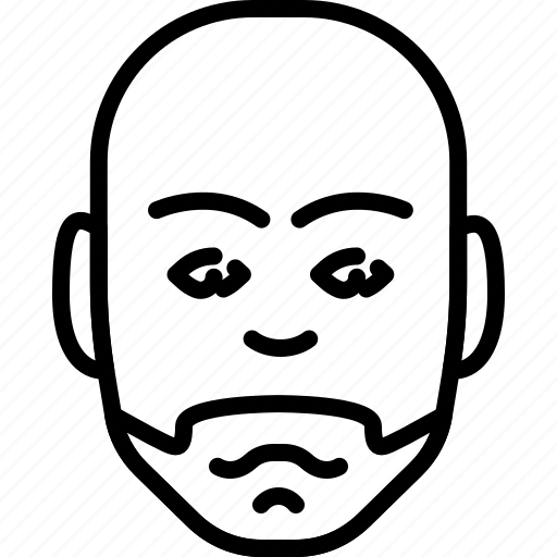 avatar, bald, face, head, people, person, shaved icon
