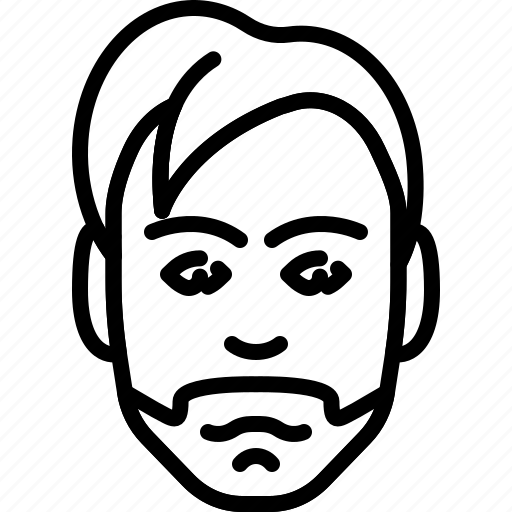 avatar, beard, dandy, face, people, person icon