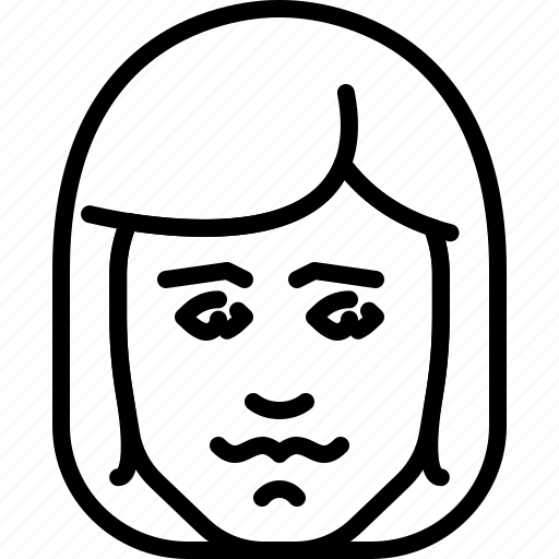avatar, face, hair, haircut, long, people, person icon