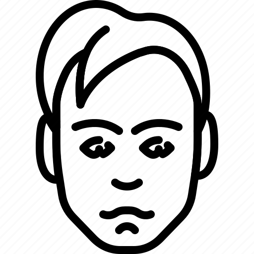 avatar, dandy, face, haircut, people, person icon