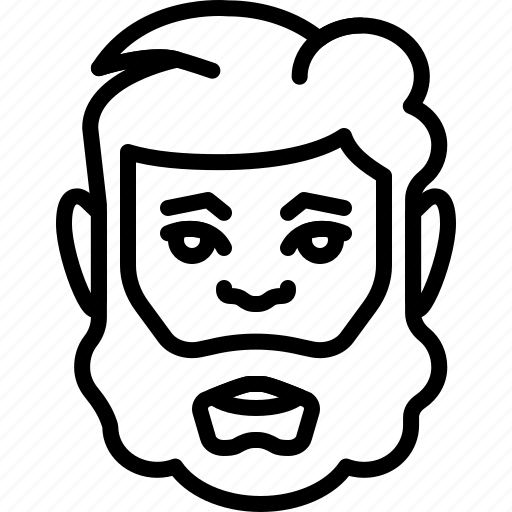 avatar, bearded, face, haircut, people, person icon