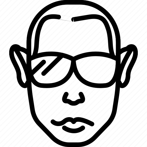avatar, cool, face, haircut, people, person, sunglasses icon