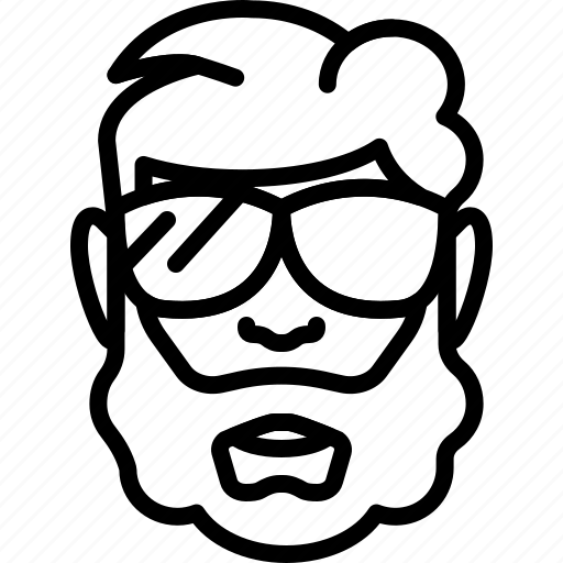 avatar, beard, bearded, face, people, person, sunglasses icon