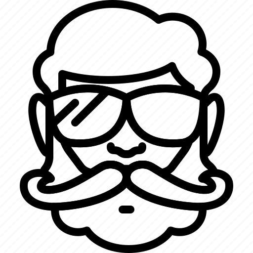 avatar, beard, face, moustache, people, person, sunglasses icon