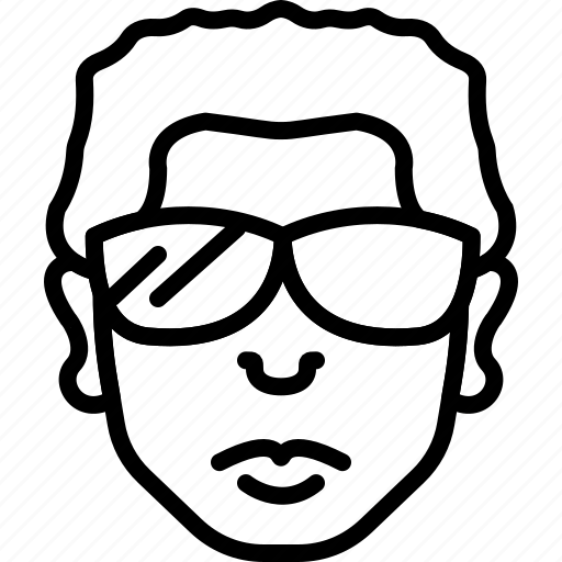 avatar, face, haircut, people, person, sunglasses icon