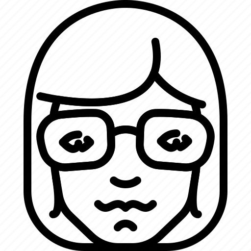 Avatar, eyeglasses, face, hair, long, people, person icon - Download on Iconfinder